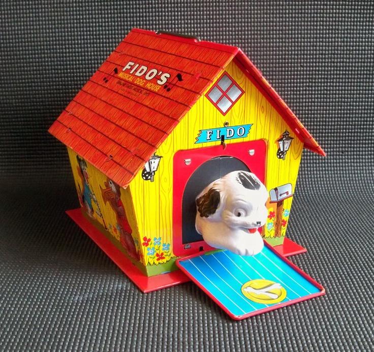 MidCentury Litho Fido's Dog House JackintheBox by leapinglemming, $64.95