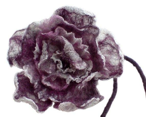Purple Nuno Felt Rose, Lilac Felt Rose. €39,00, via Etsy.