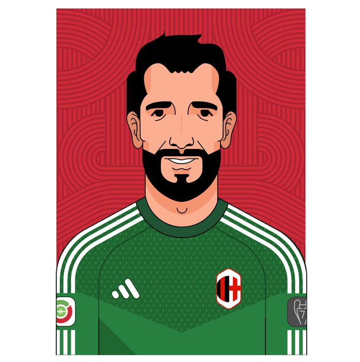DIEGO LÓPEZ RODRÍGUEZ | SPANISH AC MILAN PLAYER @officialdiegolopez @milanchannel @acmilan @acmchannel #diegolopez #triiipleteillustration #triiiplete #vector #portrait #instacool #illustration #acmilan #milano #goalkeeper #portiere #seriea #football #madrid #footballer #like4like #follow4follow #calcio #diego #lopez