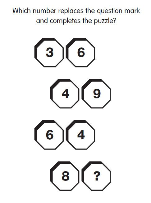 131 best iq test images on pinterest puzzle riddles and brain games iq test question 34 what is the missing number answer iqcatch sciox Images