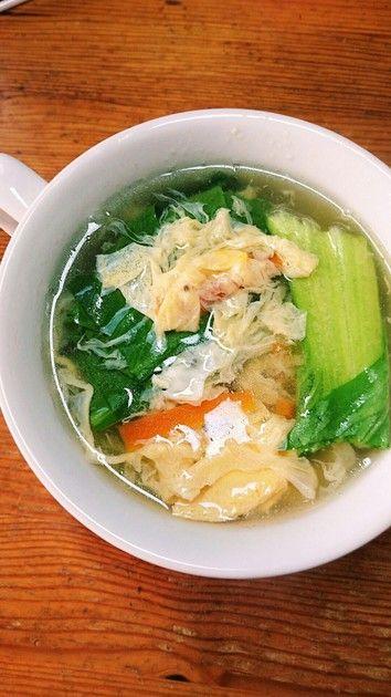 あったか!チンゲン菜の卵スープ