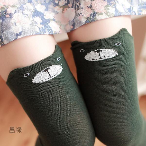 Women/'s Winter Cat Bear Panda Knitted Over Knee Long Boot Thigh-High Warm Socks