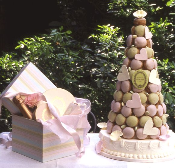 Croquembouche Wedding Cake.  I have wanted a Laduree wedding tower since I went there like 10 years ago.  It is one of the best places ever.
