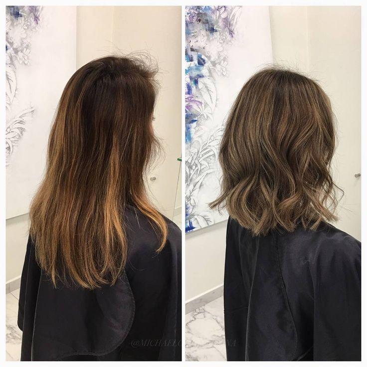 Vi gör tunna slingor i hela håret för att få ett jämnare och ljusare resultat. I botten lägger vi en lite mörkare toning för att få mer djup i färgen 🌰 #babylights #lob #cutandcolor #kerastase #fusiodose