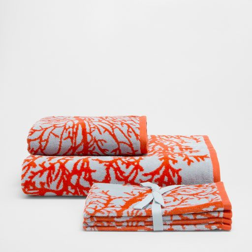 Image of the product CORAL VELVET COTTON TOWEL
