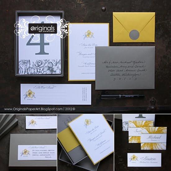 Gray and Yellow Invitations... NICE!