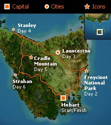 Circle Tasmania - self drive