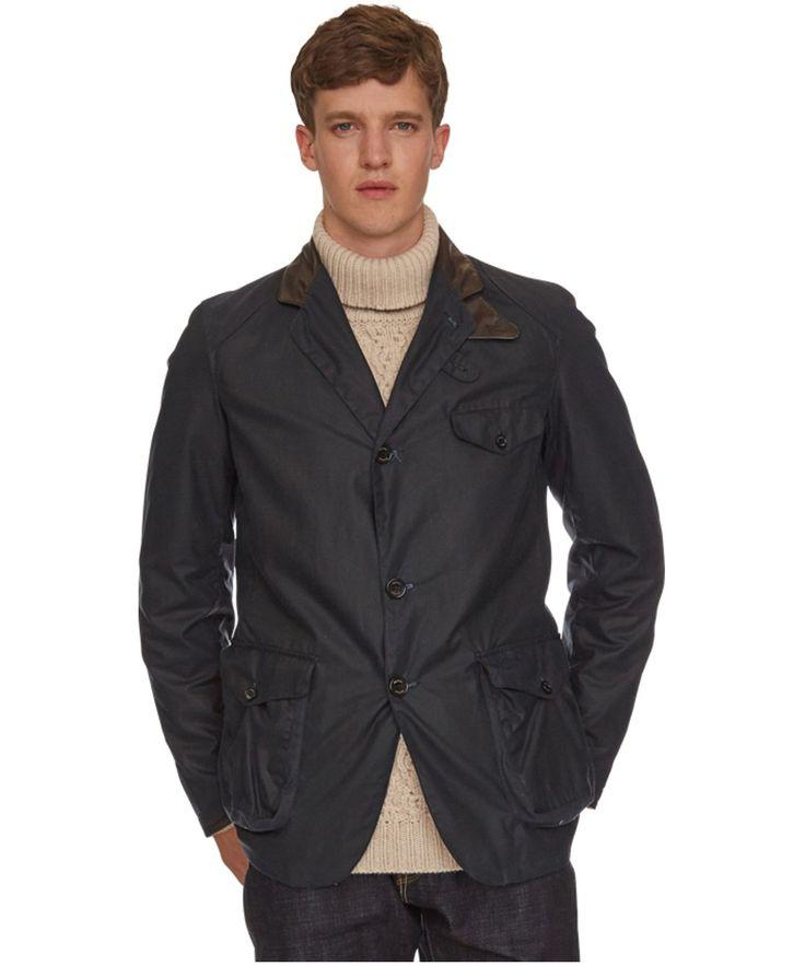 Men's Barbour Beacon Sports Jacket - Navy