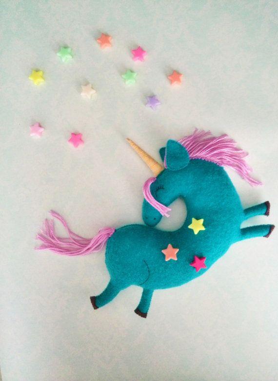 Felt Unicorn Toy-Unicorn plush-Unicorn toy-Felt by SweeToysBaby