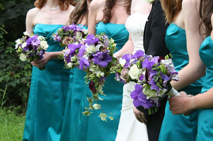 Teal And Purple Wedding Ideas: Eggplant Color Wedding Flowers