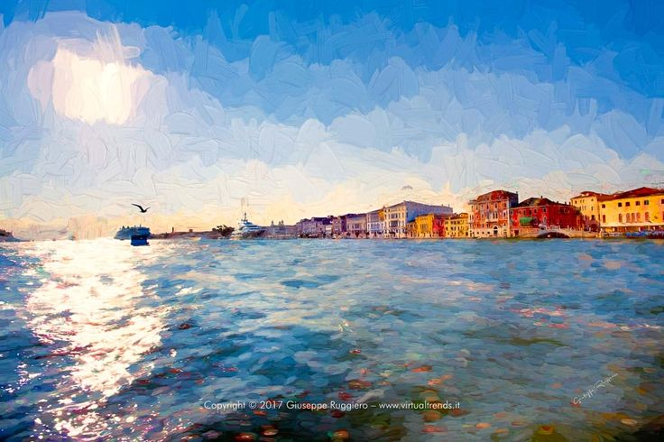 Picture of Venice (Italy) manipulated and printed on High quality Canvas (or Fine Art Paper) with Ultrachrome HDR pigmented inks. #venice #canal #grand #italy #venezia #canvas #art #canal rande #grand canal