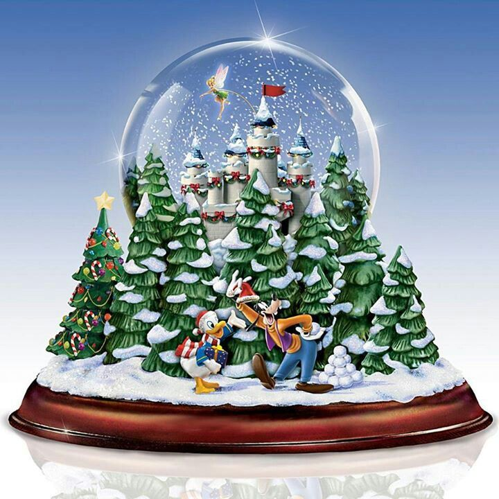 The Ultimate Disney 50 Character Tabletop Christmas Tree: Disney Snow Globe