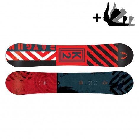 #K2 Raygun #snowboard rood zwart inclusief Indy binding