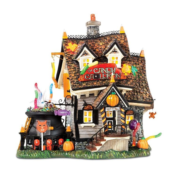 Department 56 42946 SVH THE CANDY CAULDRON (56.54609) Department 56 Trick or Treat Lane Snow Village Halloween Lighted Villages at eLightBul...