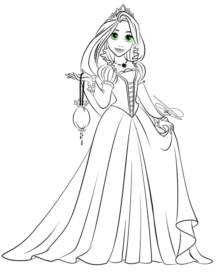 156 best Tangled Colouring Pages images on Pinterest ...