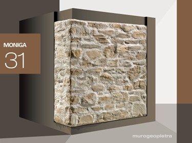 Rivestimento di facciata in pietra ricostruita MONIGA P31 Collezione Profilo SPONTANEO by GEOPIETRA®