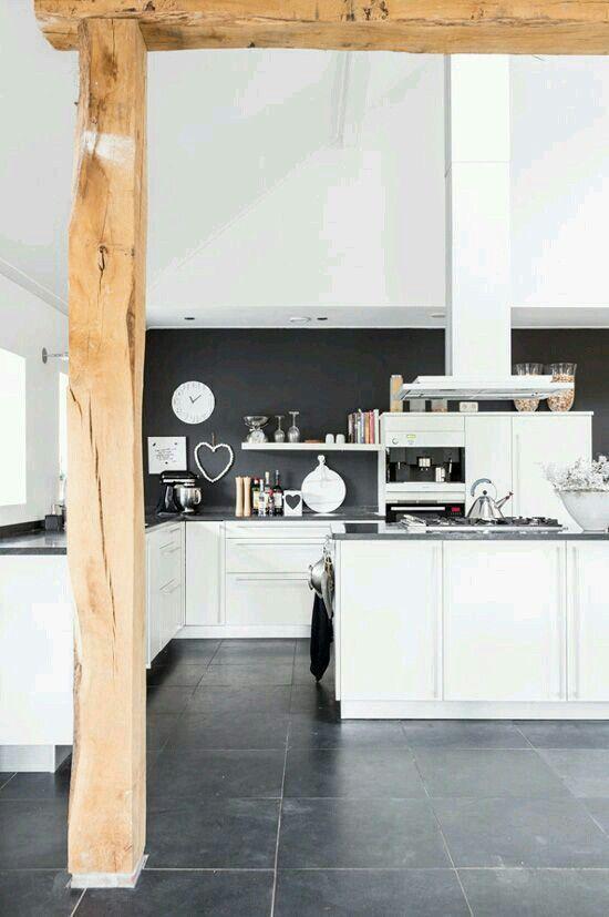 #monochrome kitchen mode. #clocks #blenders