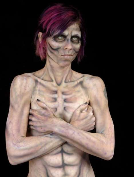 Horror Body Painting Photos 1 - Horror Body Painting pictures, photos, images