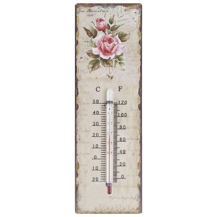 Beautiful #romantic wall #thermometer. www.inart.com