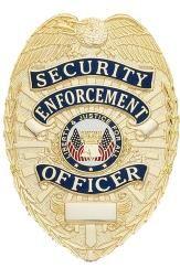 Security Enforcement Officer Badge - W59 | Stock Badges | Badge & Wallet