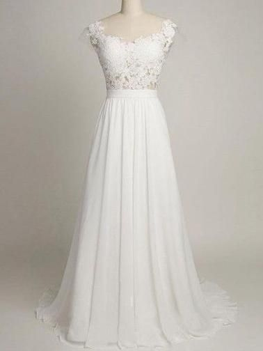 Cheap Prom Dress Square Short Train Ivory Long Prom Dress/Evening Dress JKL143
