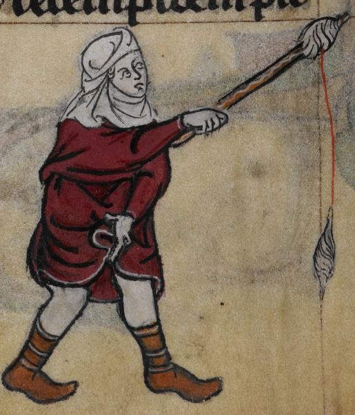 Detail from medieval manuscript, British Library Stowe MS 17 'The Maastricht Hours', f64v