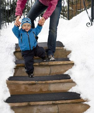Slipping, shoveling and salting when it snows are now a thing of the past. Keep outdoor stairs safe and snow-free with this innovative set of heating stair mats designed to be left outside all winter long. These electric mats work to melt snow on contact at a rate of two inches per hour in order to prevent snow and ice from accumulating. Featuring built-in watertight connectors, they're designed to interconnect with other HeatTrak stair mats and walkways. See how it works!