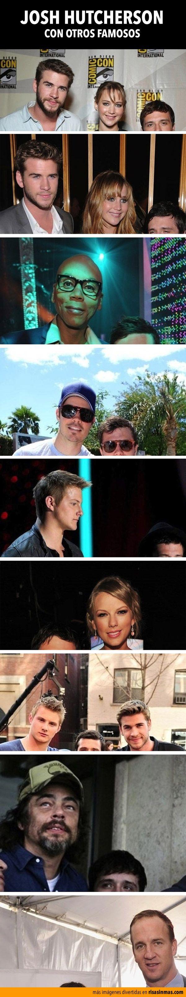 Josh Hutcherson con otros famosos.