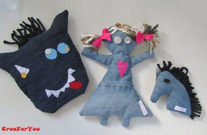 Met Monster, Pop of Paard leren we de kinderen komend jaar naaien op school, we recyclen spijkerbroeken