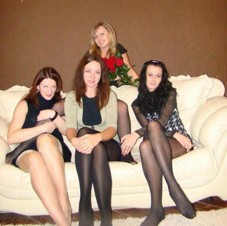 A piping hot pantyhose group