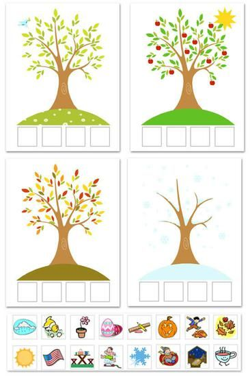 Seasons Science Preschool Printable - want to use this to make a poster for the class