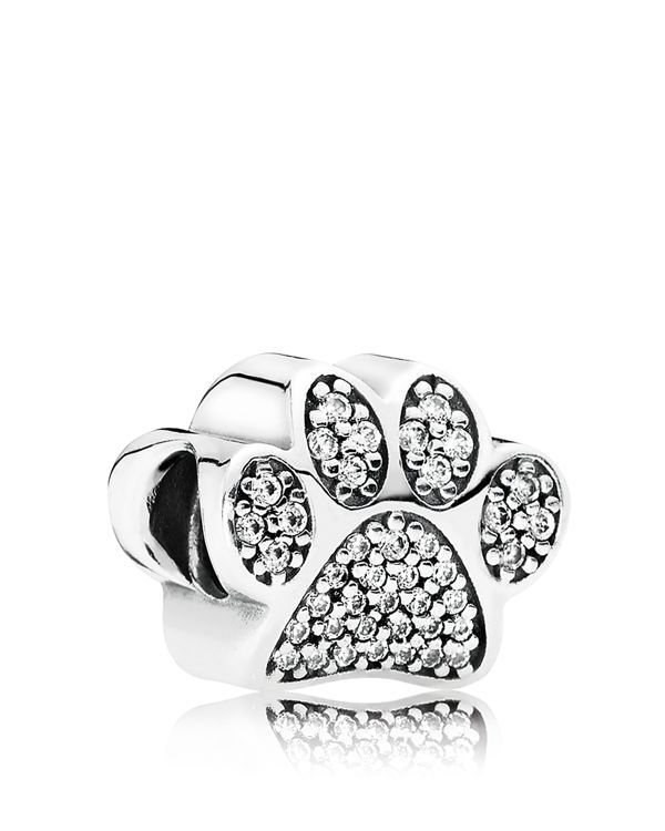 Pandora Charm - Sterling Silver & Cubic Zirconia Paw Prints, Moments Collection