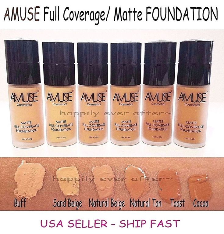Amuse MATTE, Full Coverage Makeup Foundation. Long Lasting with Matte Finish. Full Coverage - Conceal and Cover any imperfections to make skin tone even and pretty. Or we will do our best to find what the you desire from us. | eBay!