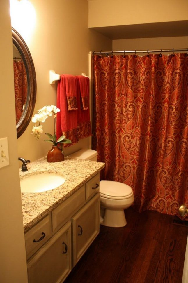 Fabric Shower Curtains With Valance For Beautiful Bathrooms