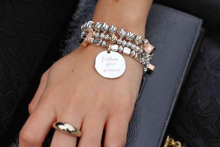 Bracciali con Moneta CIVITA e anello ASTRID bracelet queriot little coin rose gold love silver fashion beautiful moda regalo
