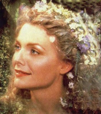 "Michelle Pfeiffer portrays the character of Titania in the movie ""A Midsummer Night's Dream""........"