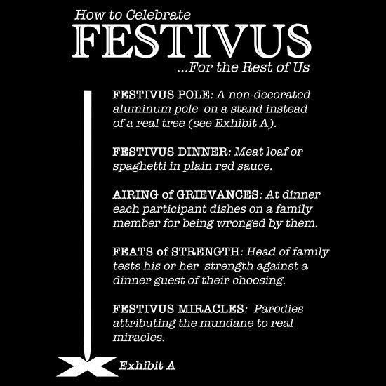 How to Celebrate Festivus T-shirt on Redbubble by Samuel Sheats #festivus #redbubble