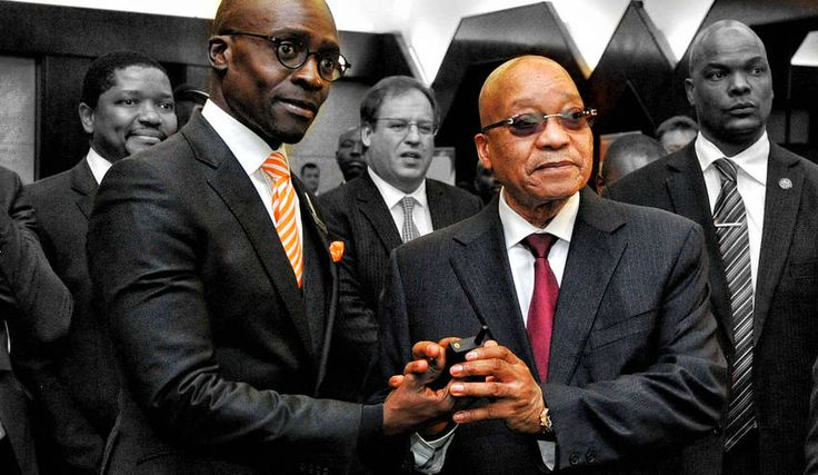 Then Photo: Minister of Home Affairs Malusi Gigaba and President Jacob Zuma unveil E- Home Affairs at Gallagher Convention Centre in Midrand, Gaouteng Province. South Africa. 07/04/2016. Siyabulela Duda