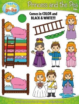 FREE The Princess and the Pea Clip Art Set  Over 50 Graphics!You will receive 51 clipart graphics that were hand drawn by myself  1 Castle, 1 Crown, 1 Ladder, 1 Single Pea, 1 Pea Pod, 3 Prince Waving, 3 Princess Waving, 3 Princess Blushing, 3 Princess Tired, 3 Princess Smiling, 3 Princess Wet, 2 Queen with Pea, 3 Princess Can't Sleep, 3 Princess in Stacked Bed Sleeping, 1 Stacked Bed Empty and 3 Prince & Princess Married.
