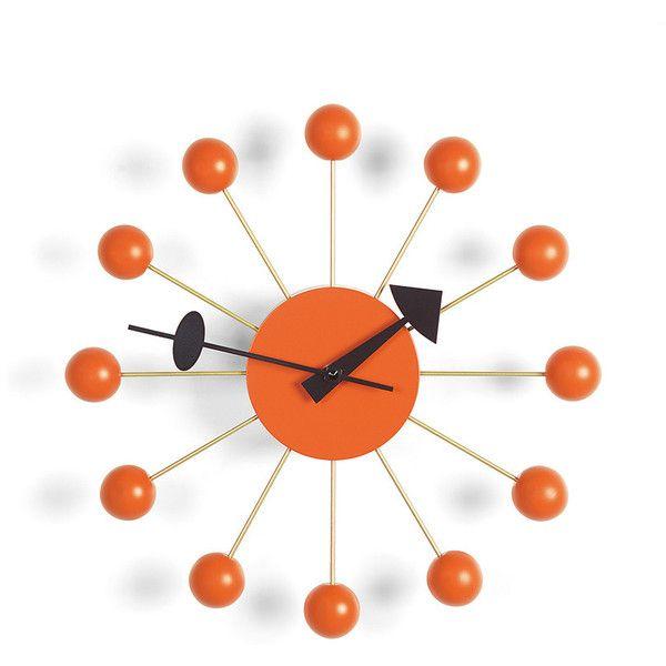 Vitra Ball Clock - Orange (2.085 VEF) ❤ liked on Polyvore featuring home, home decor, clocks, orange, vitra, ball clock, orange clock, contemporary wall clock and contemporary modern wall clocks