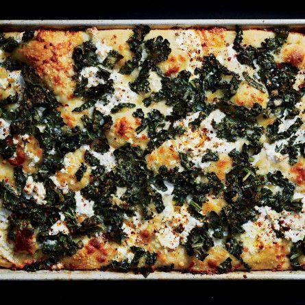 Spicy Tuscan Kale and Ricotta Grandma Pie Recipe