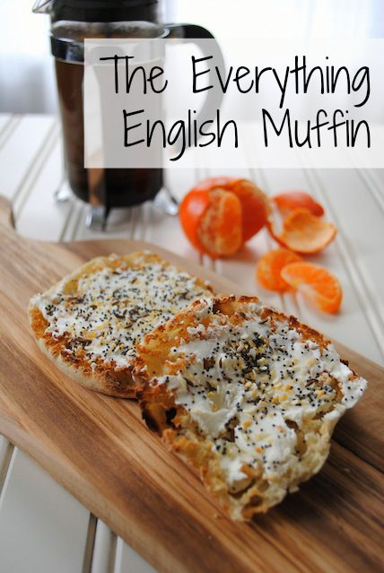 The Everything English Muffin: tastes exactly like an everything bagel, with just 1/3 of the calories! | foxeslovelemons.com