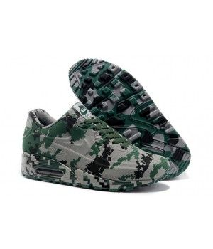 New Nike Air Max 90 Camo Online Green Sports Shoes for Men - Best Nike Shoes