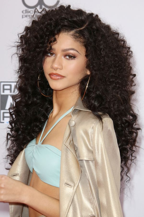 Zendaya   The young Zendaya may have dodged a bullet by not playing Aaliyah in that panned Lifetime movie, but that doesn't mean she can't bring all the '90s hip-hop realness to the red carpet. (Those lips! Those brows!) Bonus points for rocking a head of massively curly hair — we can't wait to see what she does next.