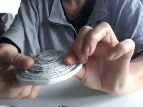 Tuto Eco-Vannerie : coupelle en spirale - YouTube