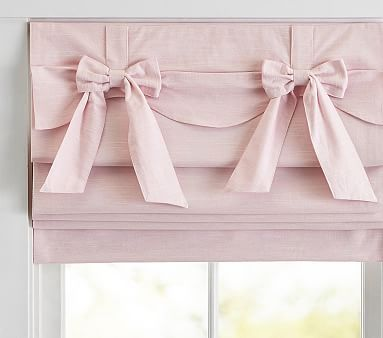 Bow Valance Roman Shade 44x64 Inches - Pink