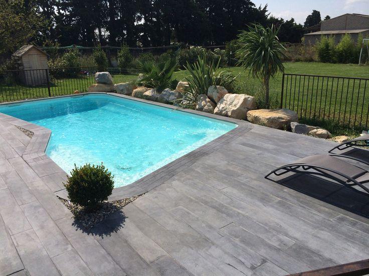 lot de 40 margelles droites 60 x 33 cm 4 margelles angle de piscine aspect - Margelle Bois Piscine Leroy Merlin