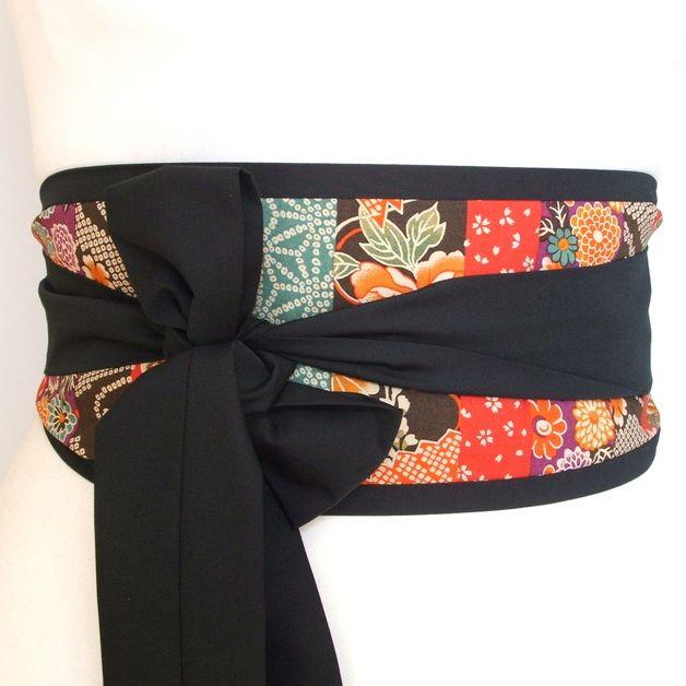 Taillengürtel - Japanische streifen obi gürtel ♥ loobyloucrafts ♥ - ein Designerstück von loobyloucrafts bei DaWanda