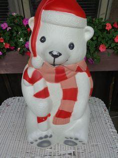 Polar Bear Christmas Decorations On Pinterest Christmas Lighted Polar Bear Blowmold W Santa Hat 29