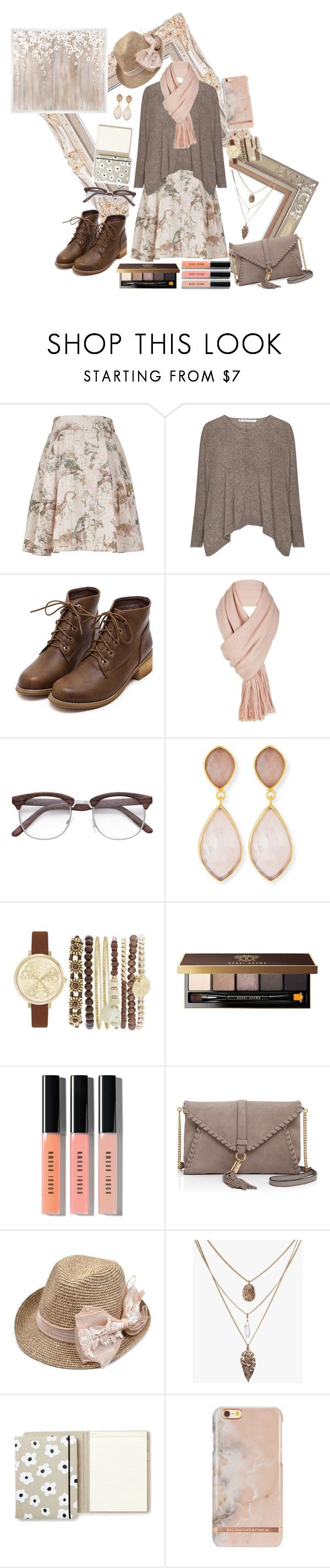 """""""Not-boring Beige."""" by caro-lion ❤ liked on Polyvore featuring Melissa McCarthy Seven7, Free People, Dina Mackney, Jessica Carlyle, Bobbi Brown Cosmetics, Milly, Kate Spade, PTM Images and plus size clothing"""
